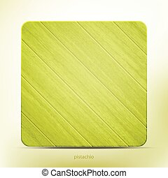 pistachio - wooden frame with realistic green planks vector...