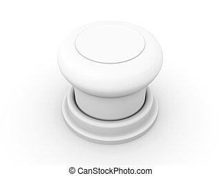 Pushbutton - 3D rendered Illustration.