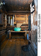 rustic bath-house - russian rustic bath-house with stove