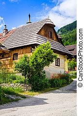 Traditional folklore house in old village Vlkolinec,...