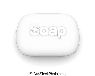 Soap - 3D rendered Illustration.