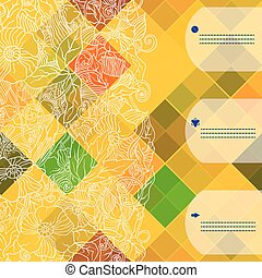 Retro vector pattern. Colorful mosaic banner.