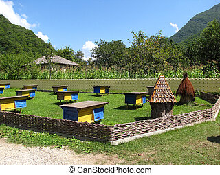 apiary in the mountains