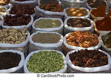 Spice Indian bazaar  Anjuna Market  Goa.