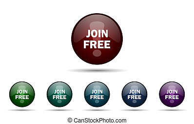Stock Illustrations of join free no registration fee, join today ...