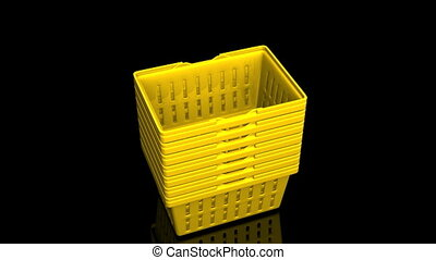 Yellow Shopping Baskets - Top Of Yellow Shopping Baskets On...