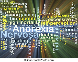 Anorexia nervosa background concept glowing - Background...