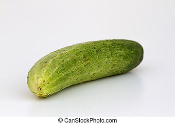 A fresh and tasty green vine ripened garden grown cucumber...