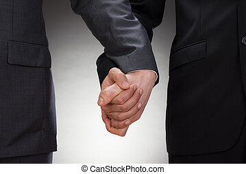 Gay Men Holding Hands - Close-up Of Two Gay Men Holding...