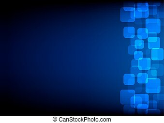 abstract round rectangle on blue color background