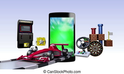 Game contents for Smart Phone - Smart Phone, entertainment...