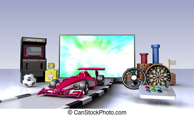 Game contents for Smart TV,wide TV
