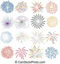 Firework Display Design Elements
