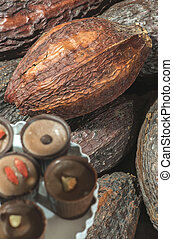 Cocoa pods and bonbons