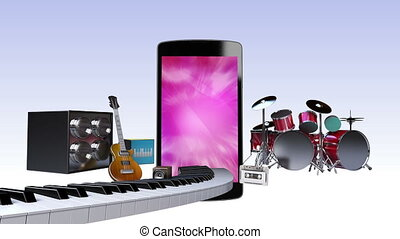 Music contents for Smart phone, Entertainment contents...
