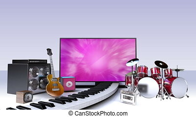 Music contents for Smart TV,Wide TV