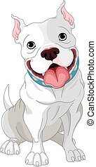 Pit-Bull - Illustration of cute Pit-bull