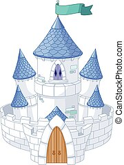 Magic Castle - Illustration of magic fairy tale princess...