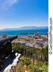 Cannon in Gibraltar. gun, Gibraltar, United Kingdom, Western...
