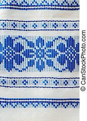 Traditional ornament on the Belorussian towel - Traditional...