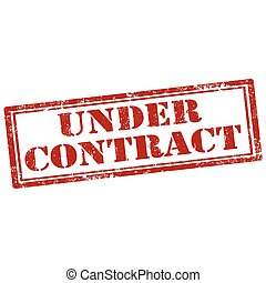 Under Contract - Grunge rubber stamp with text Under...