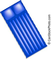 Air mattress in blue design