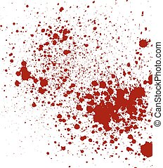 Abstract splatter red color isolated background
