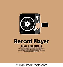 Record Player - Record Player Vector Illustration