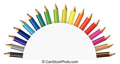 Pencils colour - Illustration of pencils colour with...