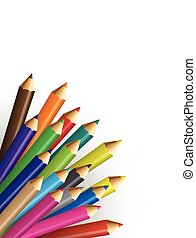 Collections of pencils colour