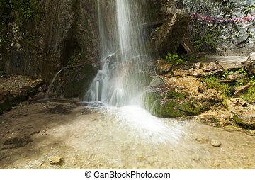 Falls in mountains - The falls in mountains fall from big...