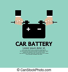 Car Battery - Car Battery Vector Illustration