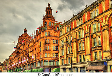 Harrods, a department store in London - England