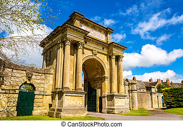 Ancient gate in Woodstock, Oxfordshire - England