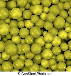 Abstract vector background with various balls. Spheric...