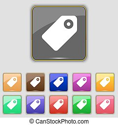 Special offer label icon sign. Set with eleven colored buttons for your site. Vector
