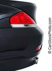 Rear tail light of a modern black car