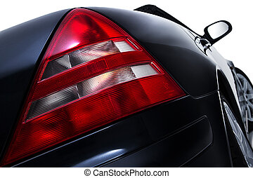 Rear tail light assembly on a modern car