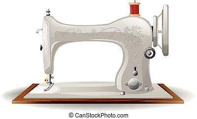 Sewing machine - Closeup of classic design of sewing machine