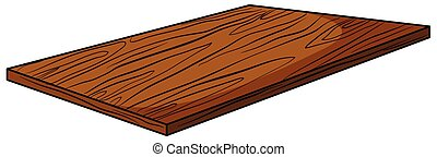 Plank - Wooden plank on white background