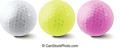 Golf balls - Mutli color three golf balls