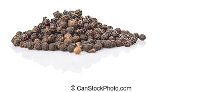 Black Pepper - Black pepper over white background