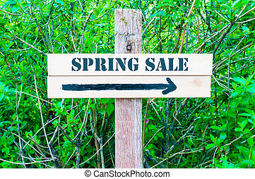 SPRING SALE Directional sign