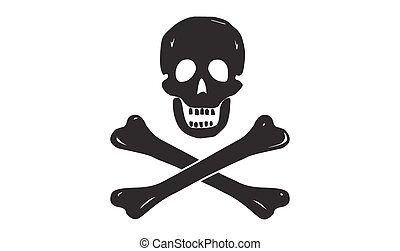 Inverse Colour Jolly Rodger - A black jolly rodger pirate...