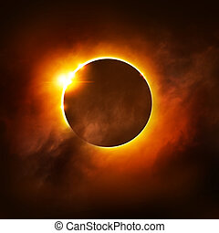 Total Eclipse - A Total Eclipse of the Sun. Illustration.