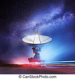 Beyond The Stars - A radio telescope pointing upwards into...