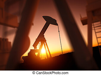 Oil and Power Industry - Oil and Energy Industry. A field of...