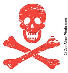 Skull And Crossbones - A skull and crossbone design isolated...