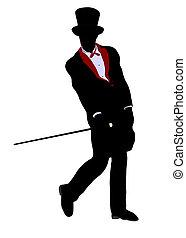 Male Magician Illustration Silhouette