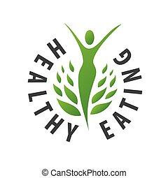 Vector logo girl for healthy food